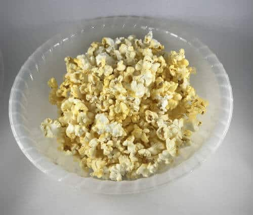 A bowl of popcorn is a healthy, whole grain snack