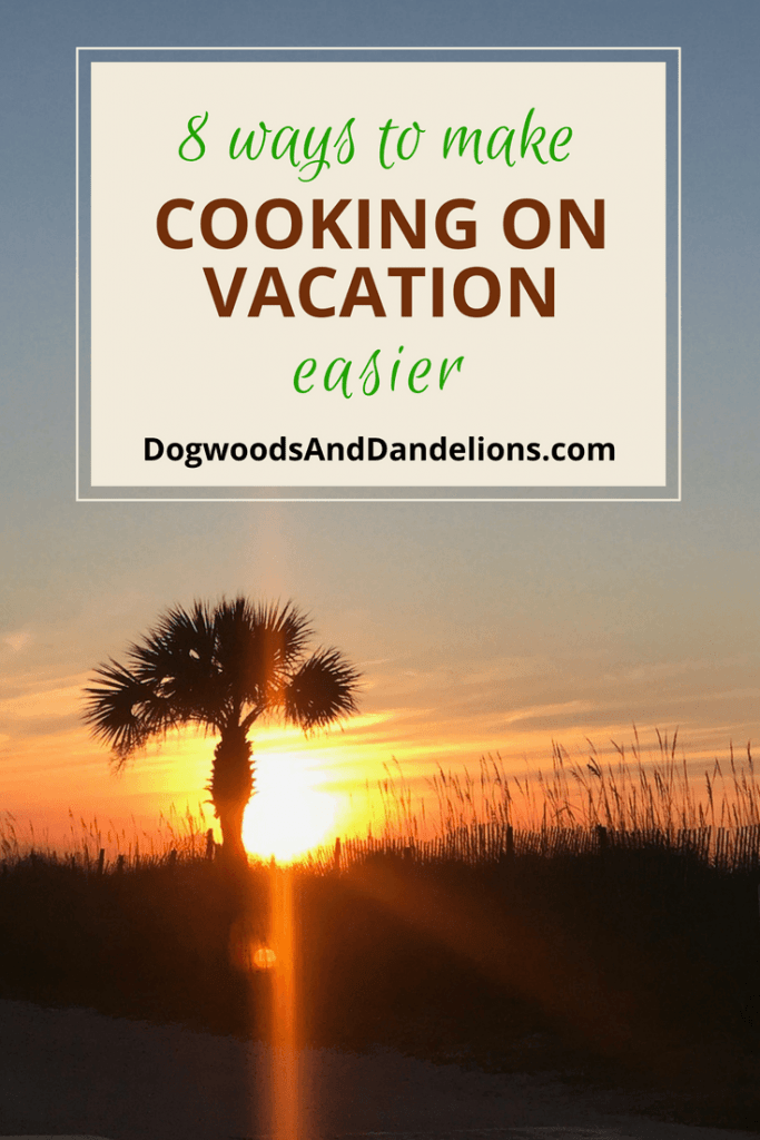 palm tree in the morning sun while on vacation | cooking on vacation