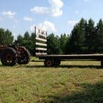 Hay trailer ready to be loaded