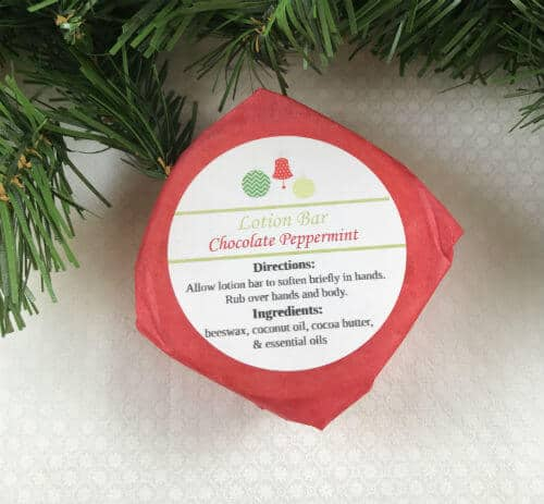 Lotion bar with label | peppermint lotion bar