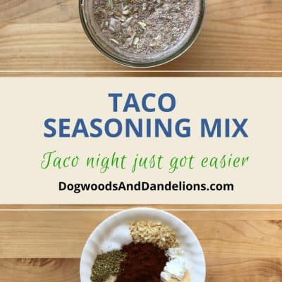 Taco Seasoning Mix-A Frugal Pantry Staple