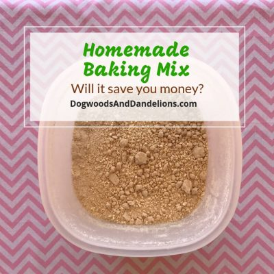 Homemade Baking Mix-Will it save you money?