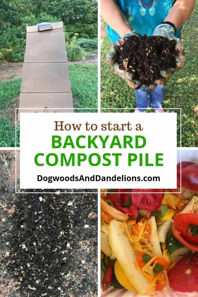 backyard compost bin | finished compost | veggie scraps to go into the compost