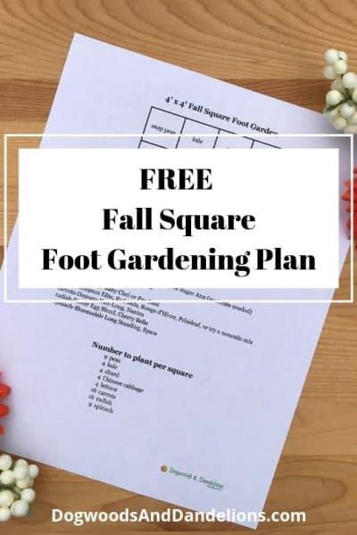 FREE fall garden plan