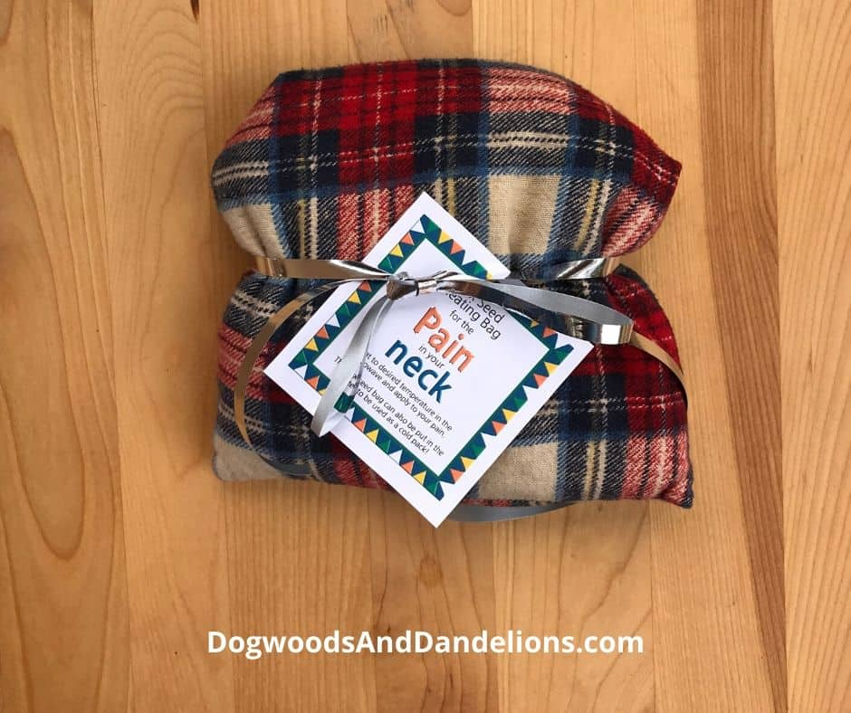 A flaxseed heating bag makes a unique homemade gift idea.