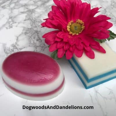 melt and pour soap with layers