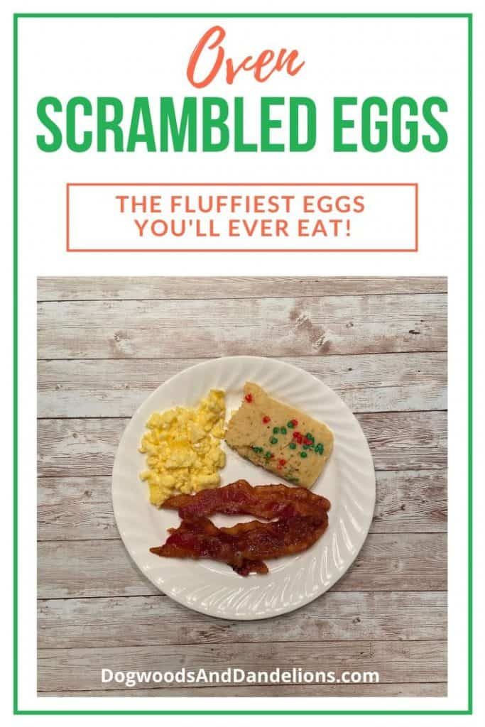 Oven scrambled eggs are so light and fluffy and the perfect way to feed a crowd.