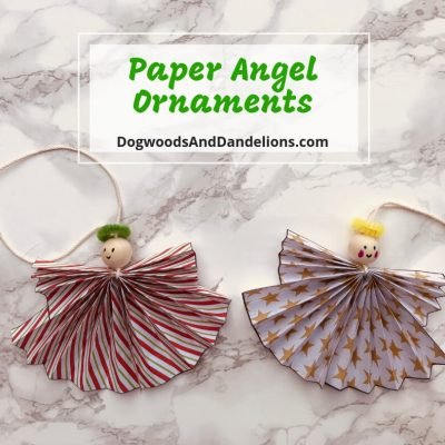 DIY Paper Angel Ornaments