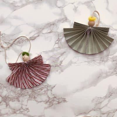 DIY Paper Angel Ornaments