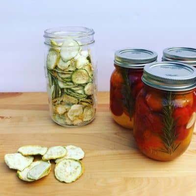 canning, freezing, and dehydrating are several ways to preserve your homegrown goodness