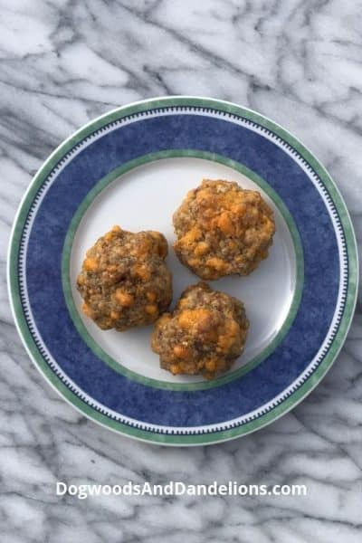 sausage balls on a plate