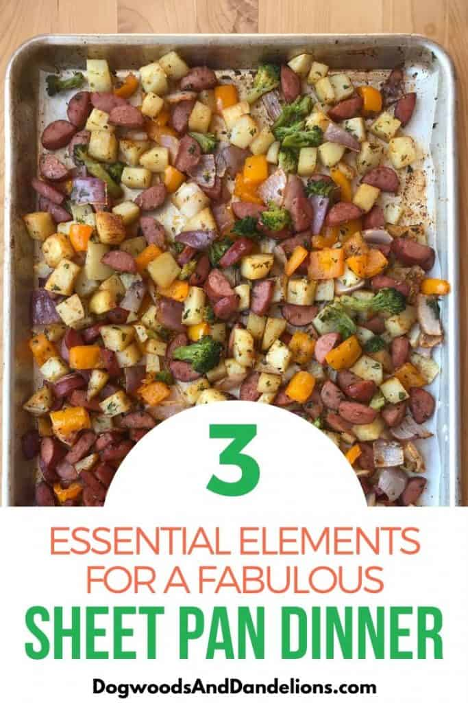 The three things you need for a great sheet pan supper.