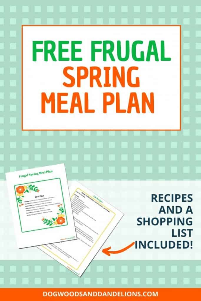 Free frugal spring meal plan