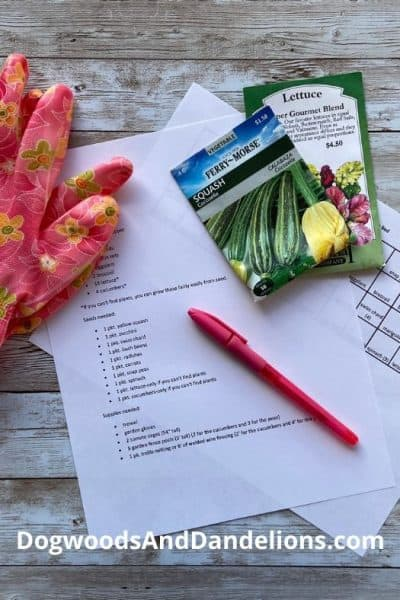 square foot gardening plan