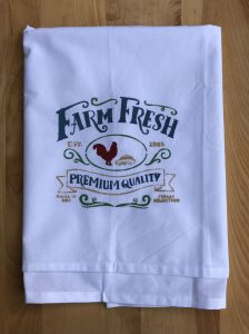 Farm Fresh Stenciled Flour Sack Towel