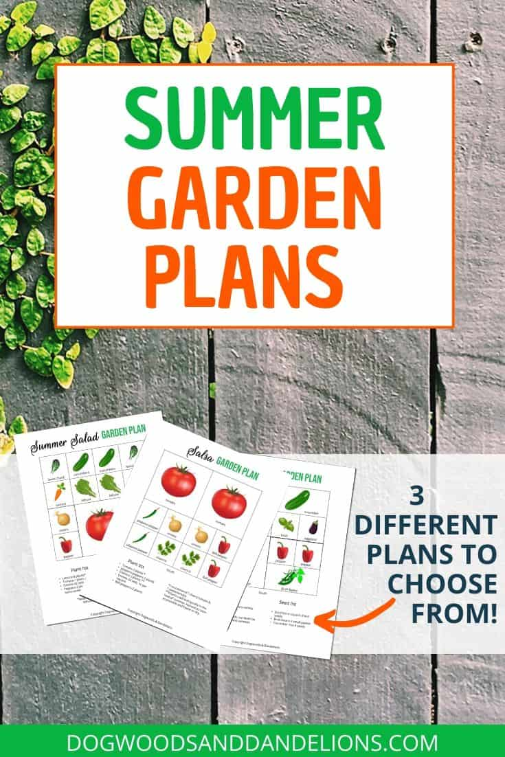 salad garden, vegetable garden, and salsa garden plans