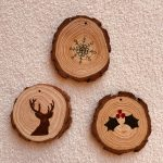 Wood slice ornaments from patterns